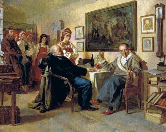 """""""Торг. Сцена из крепостного быта. Из недавнего прошлого"""", Н.В. Неврев (1866 г.)"""