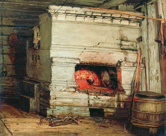 """""""Крестьянская изба"""", В.М. Максимов (1869 год)"""