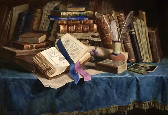 """""""Натюрморт со старинными книгами"""", С.Н. Андрияк"""