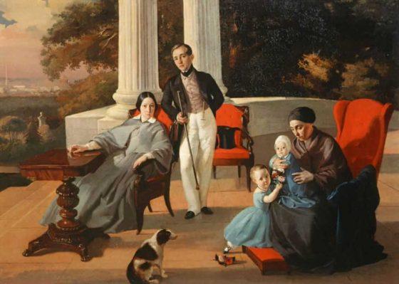 """""""Семейный портрет"""", Е.С. Сорокин (1844 г.)"""