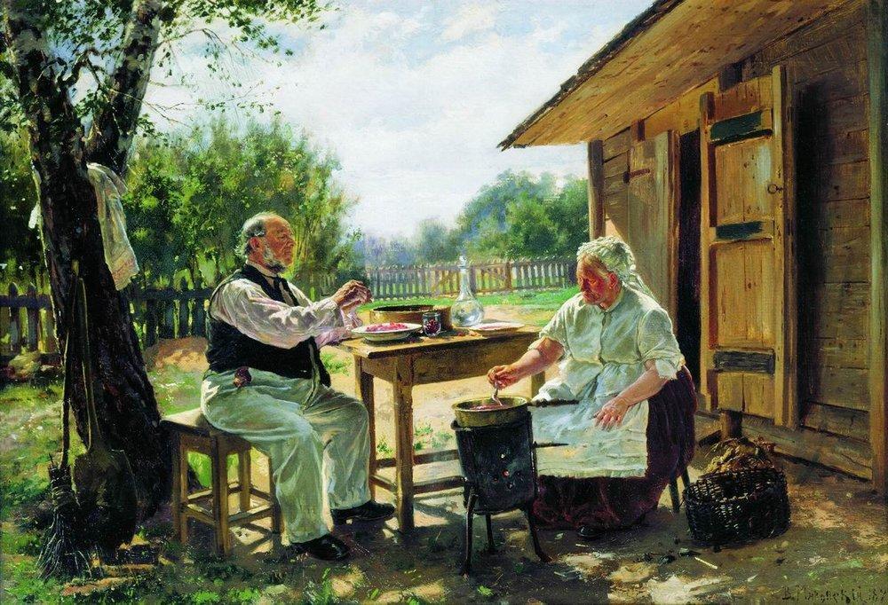 """""""Варят варенье"""", В. Маковский (1876 г.)"""
